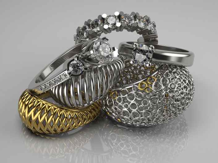Photorealistic 3d product photography of jewellery - created by 3drenders.co.uk using 3DS Max and V-Ray.