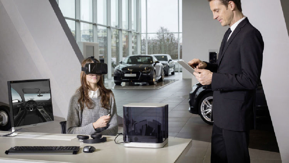 Girl-wearing-vr-headset-at-desk